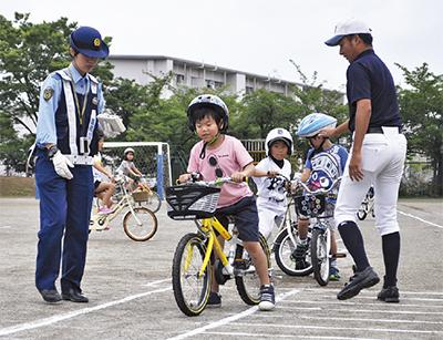 「安全な自転車の運転を」