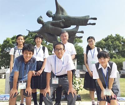 中学生が長崎で平和を学ぶ