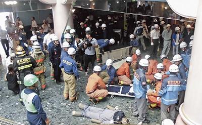 サンリオで救助救急訓練