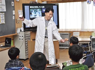企業とコラボ「科学教室」