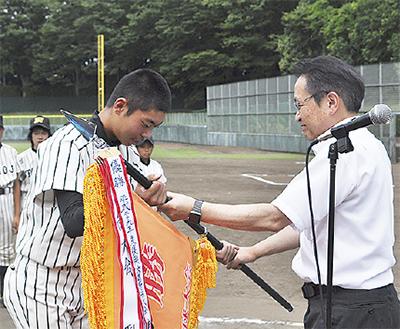少年野球で復興支援
