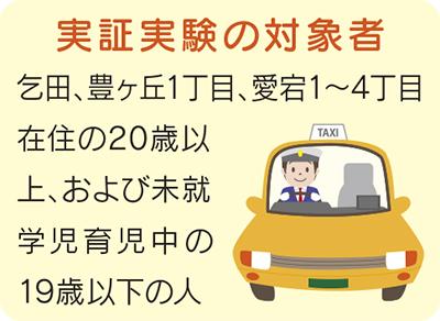 タクシー使って交通実証実験