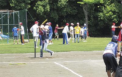 障害者のティーボール大会