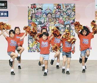 子ども達によるダンスやショーが行われるステージも設置予定(写真は昨年の市民まつりステージ)