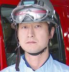 警備一課第一消防隊所属直原省三分隊長代理