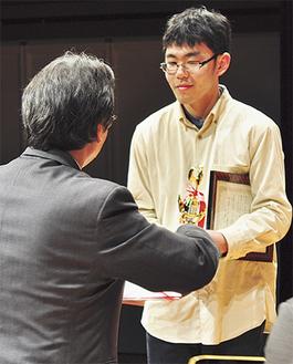 グランプリを受賞した比留川峻さん
