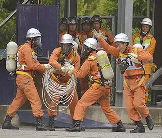 2年ぶりの関東大会出場を決めた大和市消防「障害突破」チーム