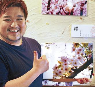桜の写真を各店に展示(SAKE黒木代表)