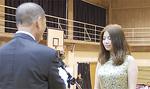 カラオケコンテストの金賞陳珊珊さん