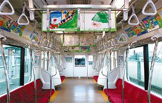 電車内展示の過去の様子