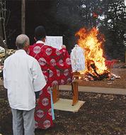 伝統のどんど焼き