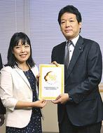 日本代表として国に提言