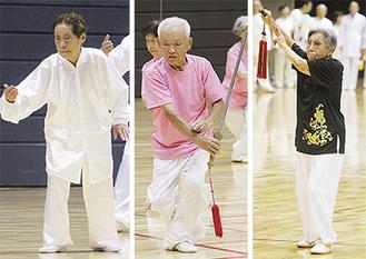 (左から)88歳の高橋さん、91歳の重谷さん、96歳の今村さん
