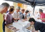 三崎の海産物も30分で完売