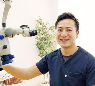 「皆様にとって通いやすく相談しやすい歯科医院でありたい」と増永院長