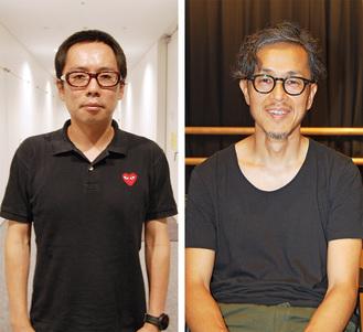 演出家の高橋さん(左)と市民キャストの土田さん