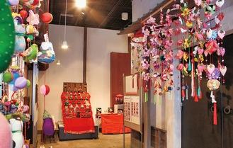 ひな飾り展示(つる舞の里歴史資料館)