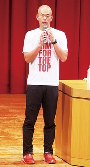 自身の挑戦について語る田中さん