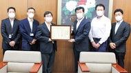 市立病院に100万円寄付