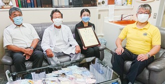 (左から)中澤会長、大橋院長、橋本さん、青木さん