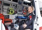 寄贈された最新式の救急車