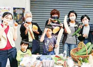 無農薬野菜の販売も人気