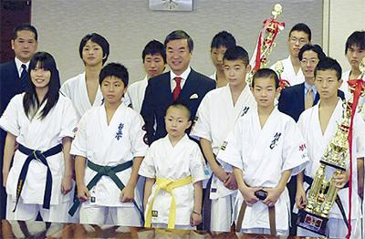 松沢知事を表敬