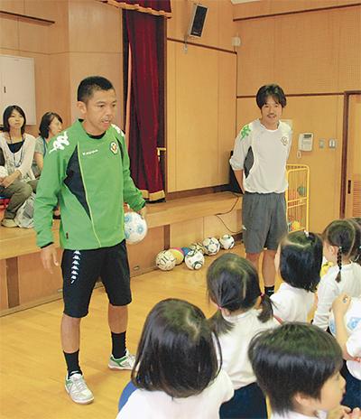 元日本代表園児を訪問