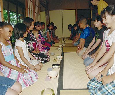 茶道で国際交流