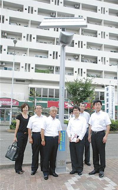 LED街路灯を寄贈