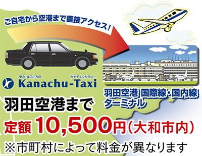 羽田空港まで 定額1万500円