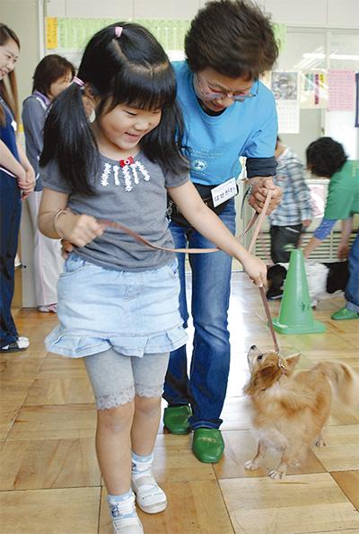 セラピー犬と児童ふれあい