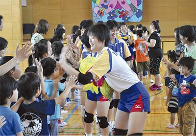 渋谷小児童と交流