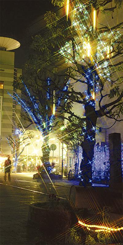 大和駅前に「光の樹」