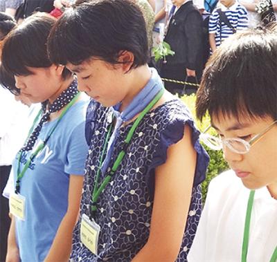 子どもたちが広島訪問