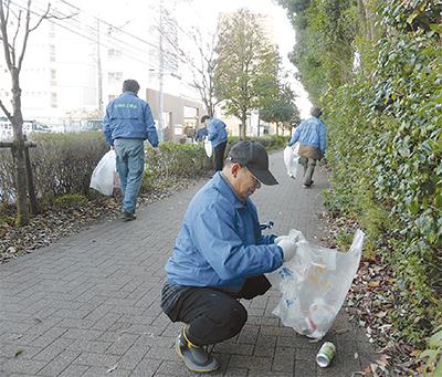 下鶴間工業会が清掃活動