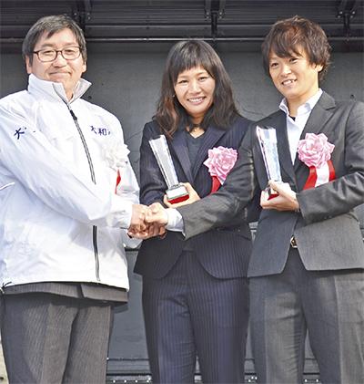 ゆかりの3選手を特別表彰