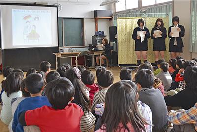 児童に非行防止授業