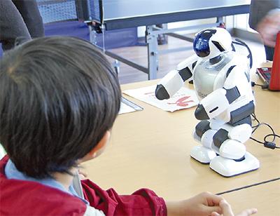 介護ロボットを体験