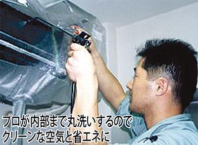 エアコン内部を丸洗い