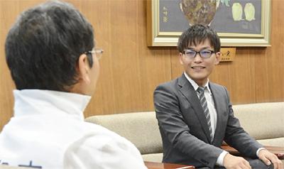 石山さんが市長訪問