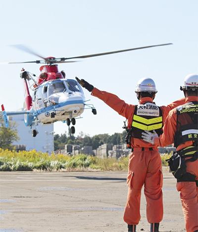 ヘリ使い、搬送など訓練