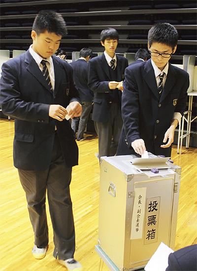 本物使って生徒会選挙