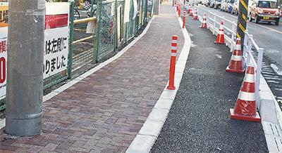 歩道に自転車通行路