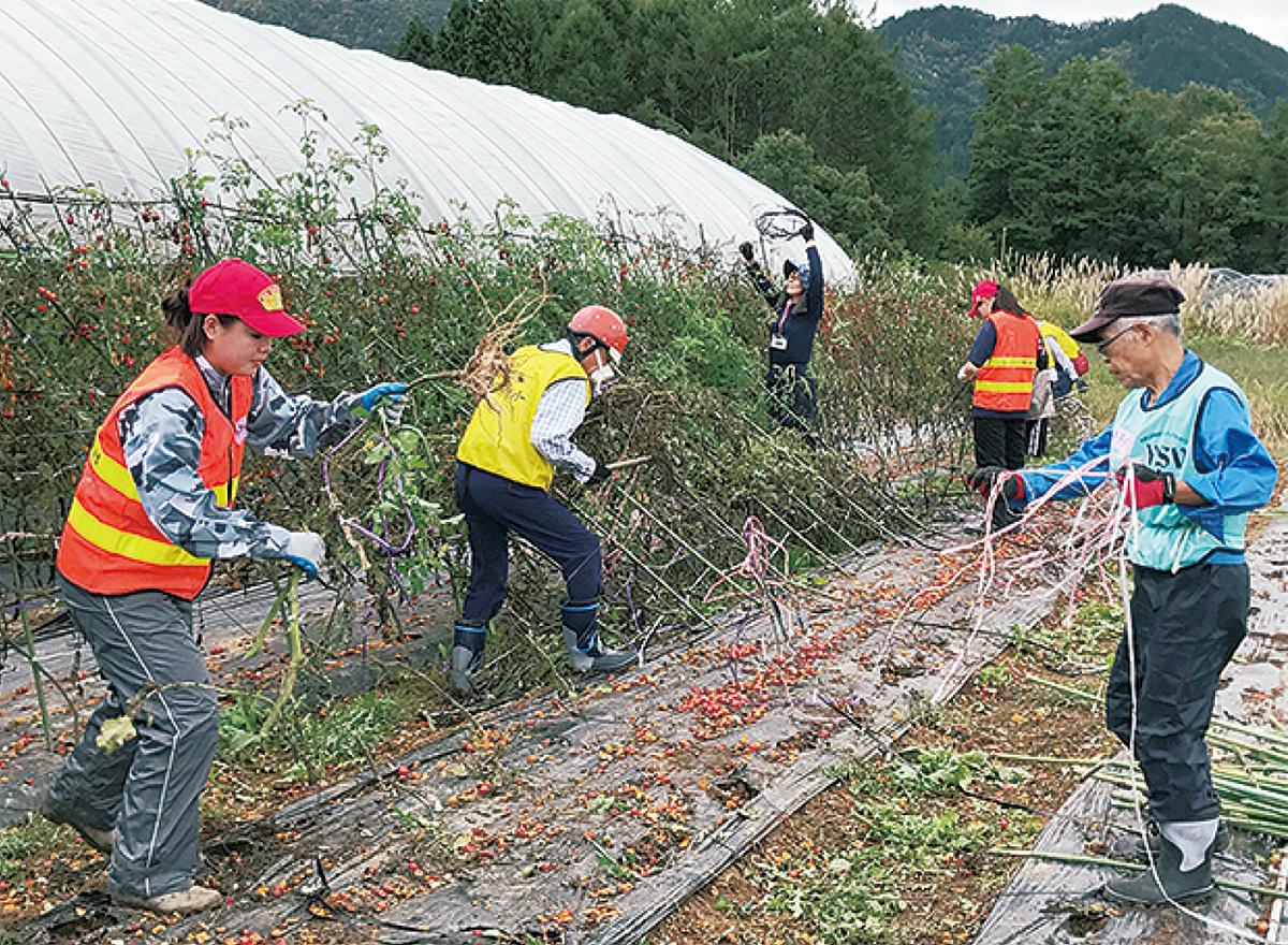 岐阜・高山で被災農家支援