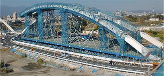 工事中のあゆみ橋