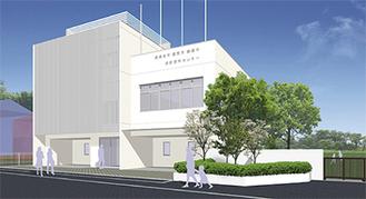 柏ヶ谷小学校の横に建設が進められている新センター