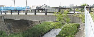 来年度、補修が施される予定の中河内大橋