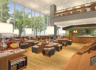 リニューアルする中央図書館の完成イメージ