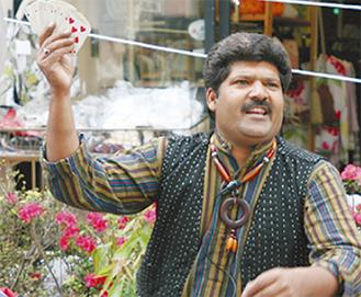ゲストのインド大道マジック